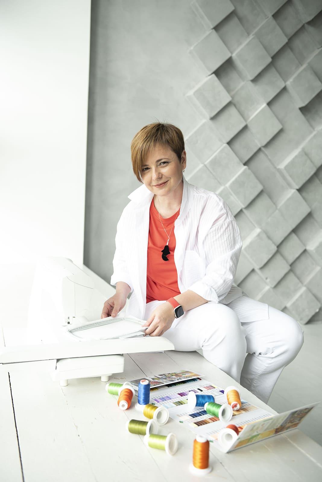 Татьяна Pteris курсы дизайна машинной вышивки